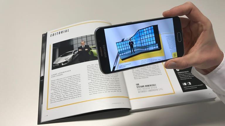 Augmented Reality Lamborghini AR Editorial