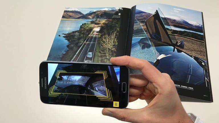 Augmented Reality Lamborghini AR Schottland Fahrt
